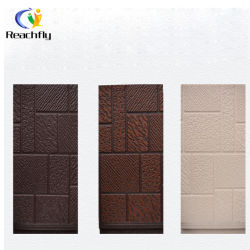 Metal utilizado Teja de poliuretano Sandwich Paneles de pared exterior