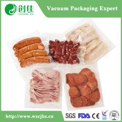 PA/PE três junta lateral Pacote Alimentar Clara Saco de vácuo sacos de plástico a vedação inferior do saco Tubular Bolsa de Vácuo