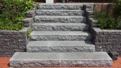 Matériau de construction de gros gris/rouge/blanc/pierre naturelle de granit noir pour l'extérieur Jardin de l'étape pavage de l'aménagement paysager G654G603G623G383G302g341g383