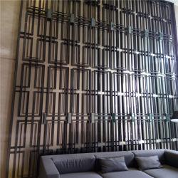 ステンレススチール穴開きスクリーンレーザーカット装飾パネル壁用パーティション、部屋ディバイダー、ドアパネル