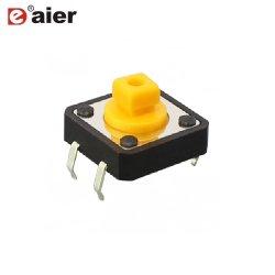 50mA Micro 4 Pino 12x12mm tato interruptor com botão Quadrado