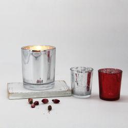 Lujoso Barco de vela de cristal de Plata Oro Portacandelitas Electroplated
