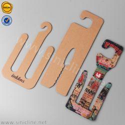 Sinicline Custom Logo Kraft Paper Cardboard Hanger for Shoes Sandals