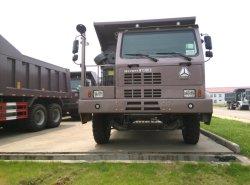 De marca Minería HOWO 70 Volquete Carretilla con 371HP 10 ruedas