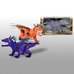 R ons het Lopen van het Stuk speelgoed van de Robot de Dinosaurus van de Afstandsbediening