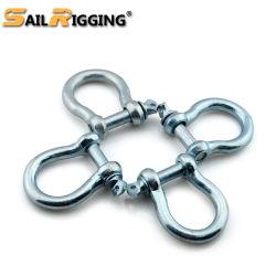 安全ねじPinのステンレス鋼の調節可能な弓海洋の手錠