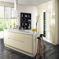 Glastür aus Hochgläsernem Glas Moderne Küchenmöbel mit Insel (ACS2-L300)