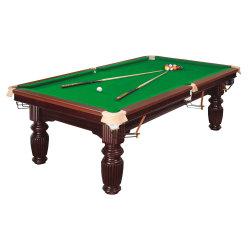 Professional Delux Pool Bilhar Snooker em madeira maciça e mármore com pano de grau superior
