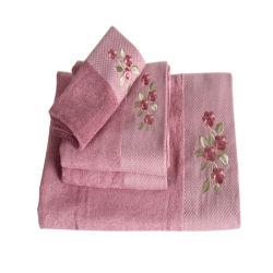 新式の花によって刺繍されるハイエンドジャカード浸ることおよび手タオルのブランドは私用命令Dy1638のために処理することができる