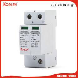 Dispositivo de protección contra sobretensiones Korlen SPD AC 275V Protector 2p 10KA-40ka