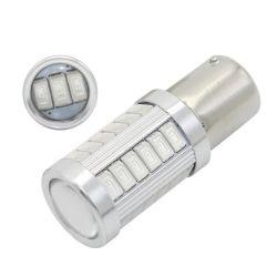Una lampadina rossa di 1156 Py21W LED per l'indicatore luminoso di segnale di girata dell'automobile