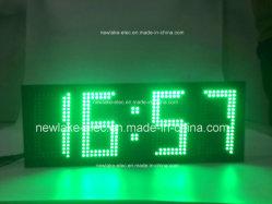 IP65 (de Groene) Vertoning van de openlucht Grote LEIDENE van de Grootte Temperatuur van de Klok
