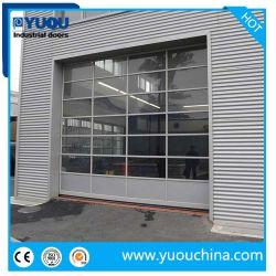 4s店のための部門別のオーバーヘッドガレージのドアを滑らせる費用有効カスタマイズされた透過ポリカーボネートか緩和されたガラス