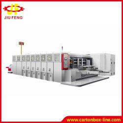 Druk die van Flexo van de Hoge snelheid van de Machines van het Karton van Jiufeng de Automatische Die-Cutting Machine van de Verpakking van de Machine van het Document van de Machine G5 inlassen