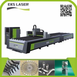 Faser-Laser-Ausschnitt-Maschine durch automatisches Laden-System zum Aufbereiten der Metallblatt-Platte und des Gefäßes