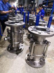 Aço inoxidável 3PC Válvula Esférica flangeada com coxim de montagem, DIN/GB/ANSI/api/Segurança Padrão/Redução de Pressão de Alívio/Industrial/Válvula de Controle de Fluxo