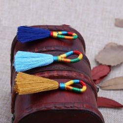 ポリエステルコットン 6 cm 、カラフルなリング、装飾用タッセル付き イヤリング