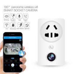 Mini-prise sans fil de sécurité IR la vidéosurveillance IP caméra cachée