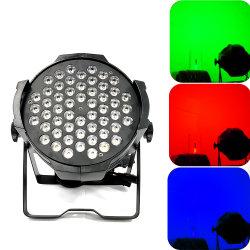 54*3W RGBW DMX 512 éclairage de scène par la lumière à LED