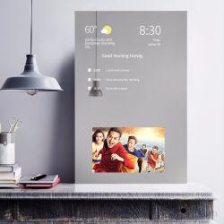 Intelligenter Spiegel mit Touch Screen, magische an der Wand befestigte LED LCD helle Spiegel-Bildschirmanzeige des Glasspiegel-für Badezimmer/Bad/Verfassung