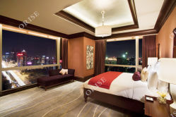 Nuovo insieme semplice moderno della mobilia della camera da letto dell'hotel di stile cinese 2019