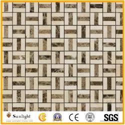浴室の壁、床のための自然なTravertine/の大理石の石のモザイク