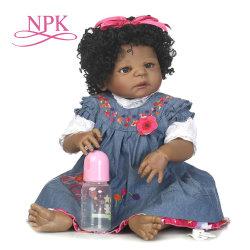 Fertilizantes NPK 57cm dons de férias de Natal Popular Renasce a simulação de Bebé pode entrar na água renasce Silicone Bonecas bebê afro-americano