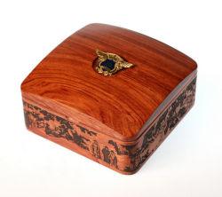 Kundenspezifisches Andenken-Abzeichen-Speicher-Geschenk-hölzerner Kasten