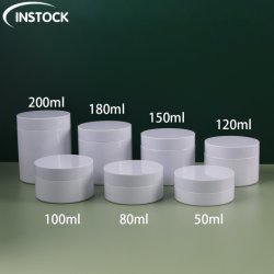 Customedの白いペット50/80/100/120/150/180/200mlは携帯用ボディ化粧品の容器を包む目の表面クリームの瓶のSkincareの装飾的な化粧品を空ける