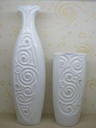 De nieuwe Ambacht van de Vaas van de Bloem van het Ontwerp Witte Ceramische