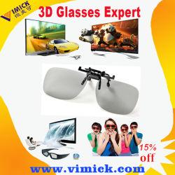 Клиенту пластиковую Reuseable круговой поляризации в 3D-Clip на очки очки