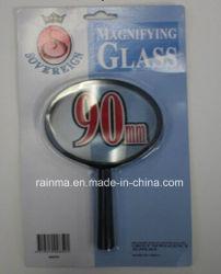 90мм дешевые увеличительное стекло с пластиковой ручкой лупа