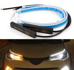 2pcs voiture DRL LED 24 V feux de jour DRL jaune clignotant Blanc de la bande de guidage pour les voitures des feux de position 24V FEU DE VOITURE DU CHARIOT