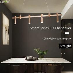 Dextrous 시리즈 DC24V LED18W 홈 호텔 디자이너 장식 현대적인 천장 샹들리에 블랙 또는 골든 펜던트 램프 실내 DIY 라이트