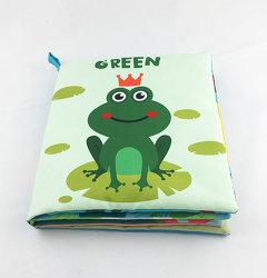 Lindo Color el aprendizaje temprano de la educación para niños libros de tela de la rana