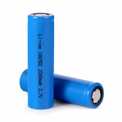 Dessus plat 18650 2200mAh batterie rechargeable Li-ion 3,7 V
