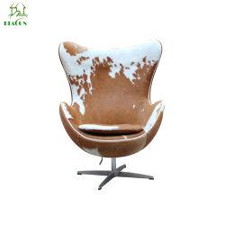 Cuero Cuero Arne Jacobsen silla Huevo
