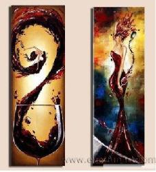 Vinho de still life Art pintura a óleo