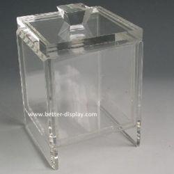 Caja de caramelos de acrílico transparente con tapa Vaciar las cajas de caramelos (BTR-K4010)