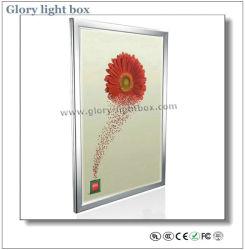 Wand-montiert oder hängend Aluminium Frame Slim LED Werbung Lichtkasten