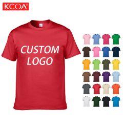 Groothandel oversized bulk Custom Logo Graphic Printing Heren Blank Plain Cotton T-shirt voor heren