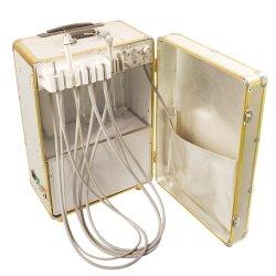 2020 Venta caliente portátil de color oro dinámica de la unidad de Odontología de la unidad de la maleta del compresor de aire independiente y ultrasónica Scaler-Woodpecker