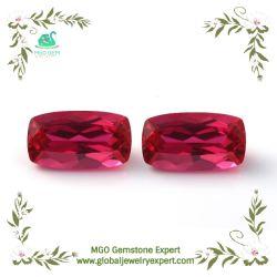 MGO sintético de la gema #5 Rectángulo/Ronda/Pera//Marquesa/acolchado de corte de forma triangular de corindón Rojo rubí piedra en los precios de mayoreo