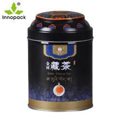 Kundenspezifische Metall Tee Kanister Lebensmittel Verpackung Box Runde Dose Tee Zinn