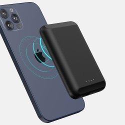 Pour l'iPhone 12 Banque d'alimentation MAGSAFE 10W portable 5000mAh Chargeur de téléphone sans fil de banque d'alimentation Magsafe