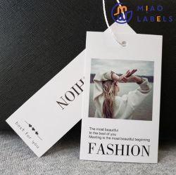 개인화하는 레이블을 입는 의복 부속품과 종이 꼬리표를 위한 로고 스티커 끈 물개 걸림새 꼬리표 인쇄