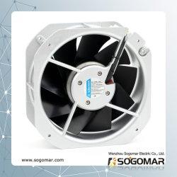225x225x80mm AC de ventilation de refroidissement avec ventilateur axial 5/9 pales métalliques à des fins industrielles
