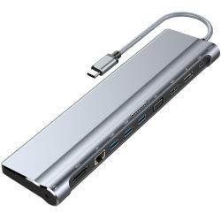 Répartiteur USB OTG Type-C Moyeu avec HDMI/RJ45/Ethernet/DP/VGA/Pd la charge