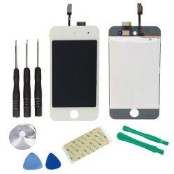 Qualité d'origine digitaliseur d'écran tactile LCD assemblée pour 4 Apple iPod touch de 4e
