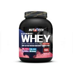100% puro de la Proteína de Suero en polvo para suplemento de Fitness